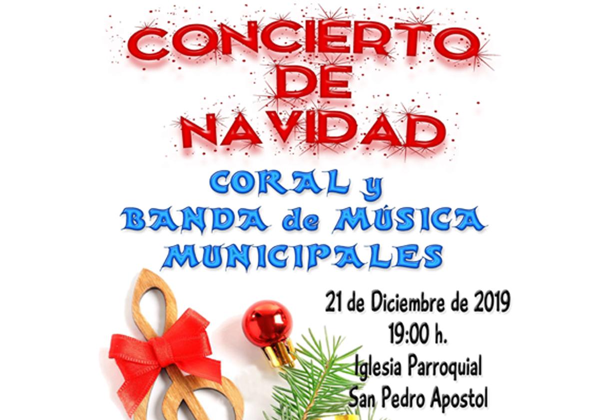 Acto navideño ofrecido por la Coral y la Banda municipales